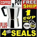 1 Cup Aluminium Moka Expresso Coffee Pot Maker