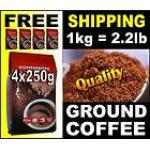 1kg / 2.2lbs Freshly GROUND (Portuguese) COFFEE 4x 250g bags