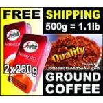 500g / 17oz of Tasty Italian Segafredo INTERMEZZO GROUND COFFEE
