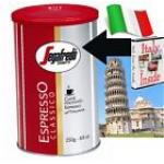 250g / 8.8oz Espresso Classico Segafredo TIN GROUND COFFEE