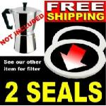 2x 1 Cup Rubber SEALS Expresso Coffee Pot Filter Gasket Espresso